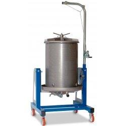 Prensa hidráulica por agua 450 Lt Inox con basculación