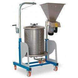 Prensa hidráulica por agua 160 Lt Inox combinada con molino