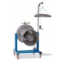 Prensa hidráulica por agua 300 Lt Inox con basculación