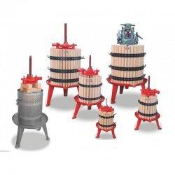 Prensas manuales e hidráulicas de vino y frutas