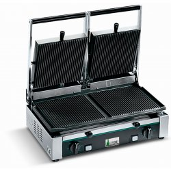 Plancha grill, parrilla de contacto, sandwichera doble PD 3000 RR-RR