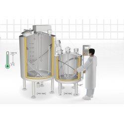 Tanque de procesamiento y agitación de productos lácteos - PST 250 A 1500 l