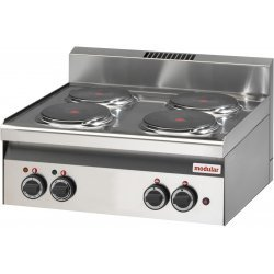 Cocina de 4 fuegos eléctrica potenciada Modular