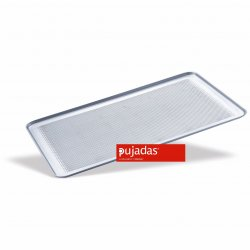 Bandeja de aluminio perforada para pastelería con borde de 45º