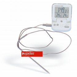 Termómetro digital de cocción con temporizador