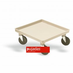 Carro de plástico para cestas