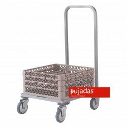 Carro inox para cestas