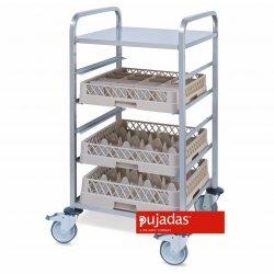 Carro para cestas de Vajillas