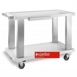 Carro madera-aluminio 2 estanterías