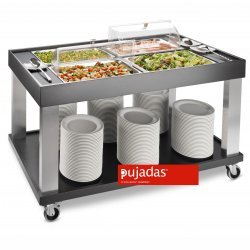 Carro buffet negro 4 GN 1/1