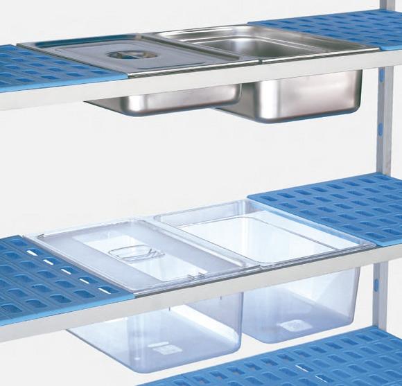 Estanterías aluminio para hostelería
